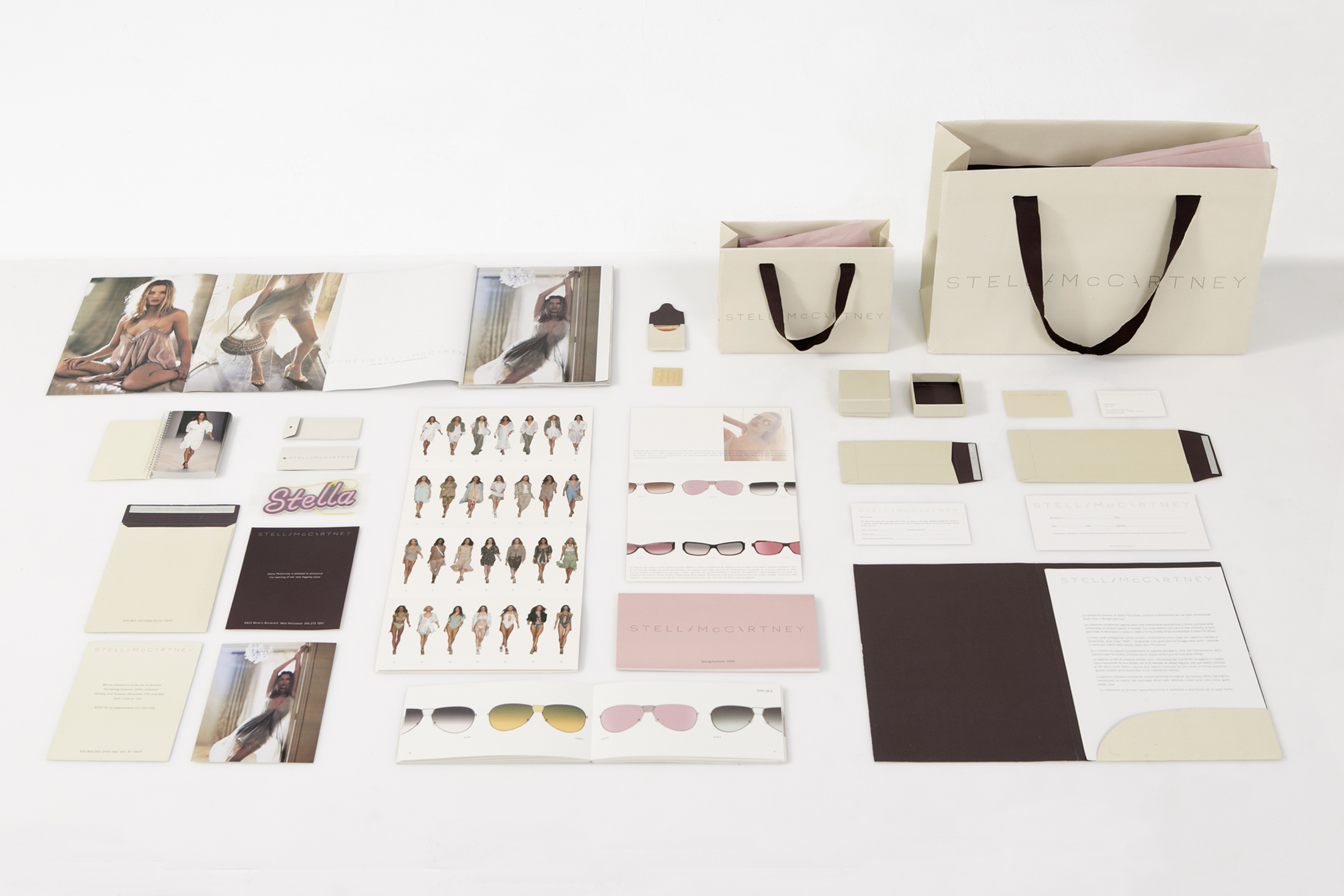 <p><strong>Stella Mccartney</strong><br /> Design for Stationary, Catalogues, Packaging&#8230;</p>